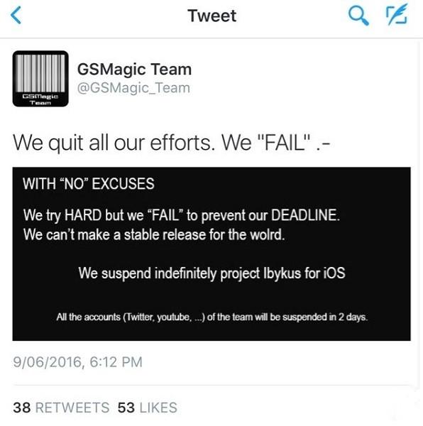 希望破灭!希腊团队放弃iOS 9.3.3越狱