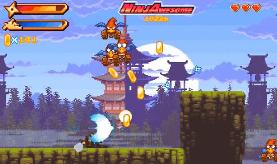 奔跑中使用忍者绝技 动作游戏《忍者敬畏》即将登场