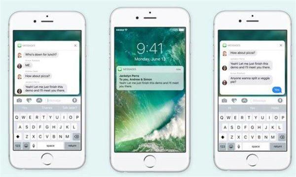 无须操心:没有3D Touch的iPhone也支持iOS10丰富通知