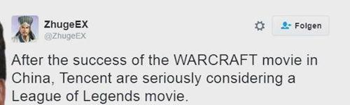 外媒:腾讯正在考虑制作《英雄联盟》电影