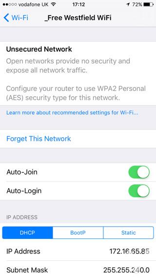 连接的公共WiFi安不安全?iOS 10都能告诉你