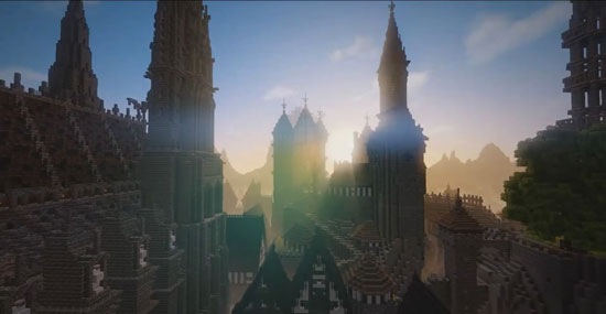 《我的世界》玩家花费三年时间 打造亚瑟王传奇城堡