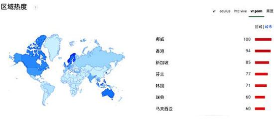 污力十足!对成人VR最感兴趣的10个国家