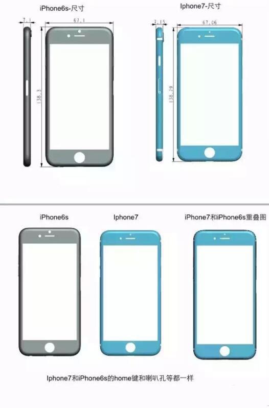 比6S矮一些、胖一些的iPhone 7,你喜欢吗?