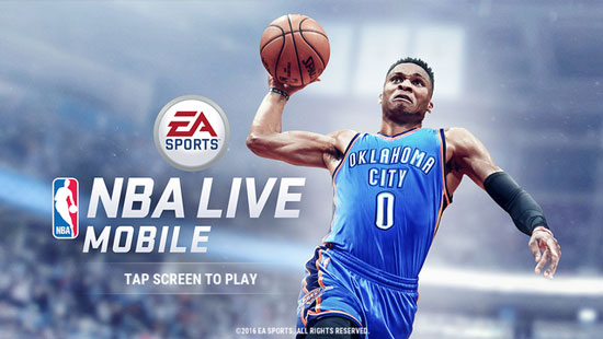 EA《NBA Live 移动版》正式上架 操控喜爱球星赢取总冠军