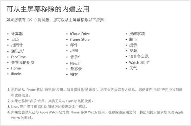 福利到!!!iOS 10系统中这23款预装应用可删除了