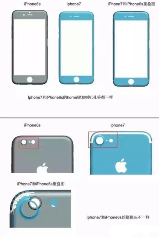 """4.7英寸iPhone 7平面图现身:看起来更""""肿""""了"""