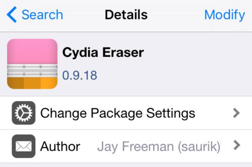 注意了!Cydia之父越狱解除工具已更名为Cydia Eraser