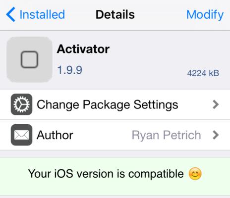 赶快来耍吧 人气插件Activator兼容iOS 9.3.3
