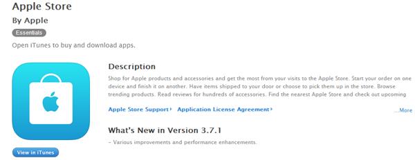 苹果iOS版Apple Store要更新了:增加推荐购买选项
