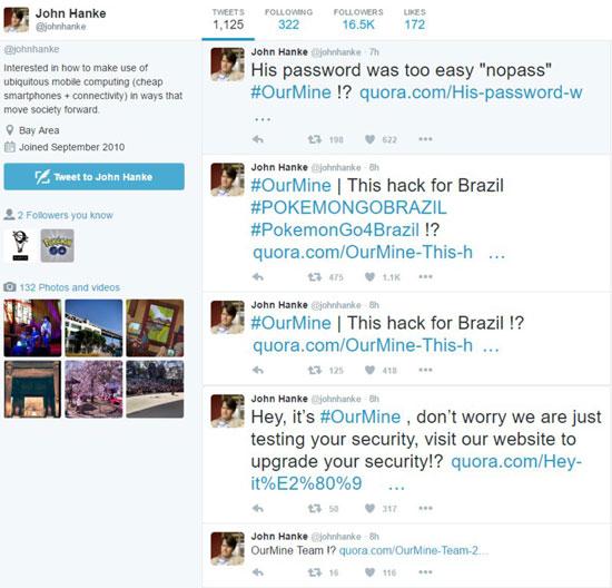 让你还不来!《口袋妖怪Go》开发商CEO推特被黑客胡闹一番