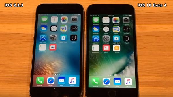 iOS 10 Beta 4是否领先iOS 9.3.3?比一比才知道