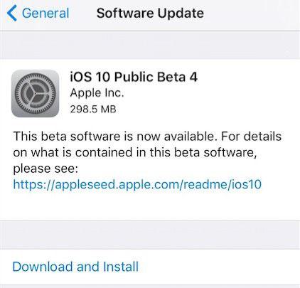 苹果iOS10公测版Beta4开放  可OTA直接更新升级