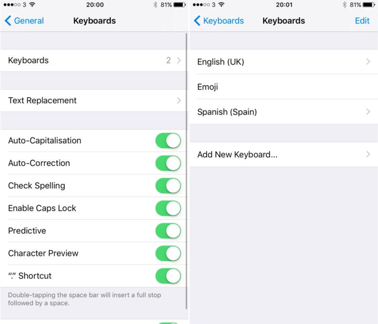 iOS 10教程: 教你不切换键盘输入多种语言