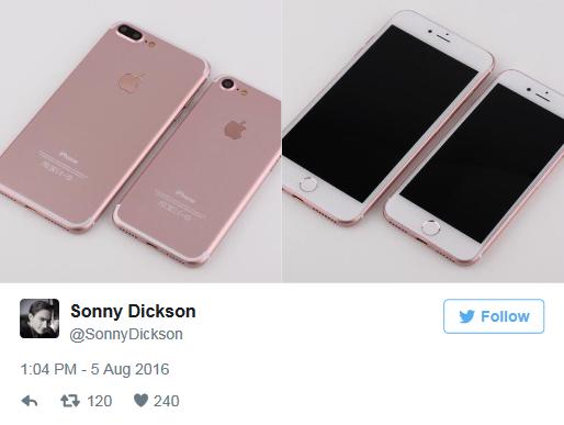 iPhone 7/7 Plus有哪些不同?iPhone 7/7 Plus原型机同框对比