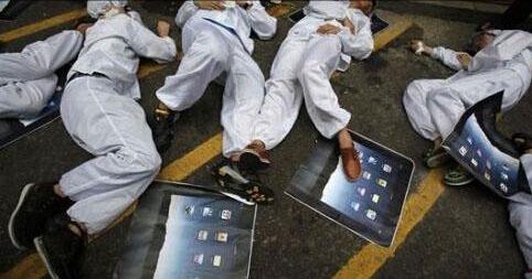 富士康员工跳楼自杀重现 工人称iPhone生产致压力大