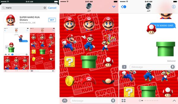 iMessage全新升级:iOS10超级马里奥表情包闪亮登场