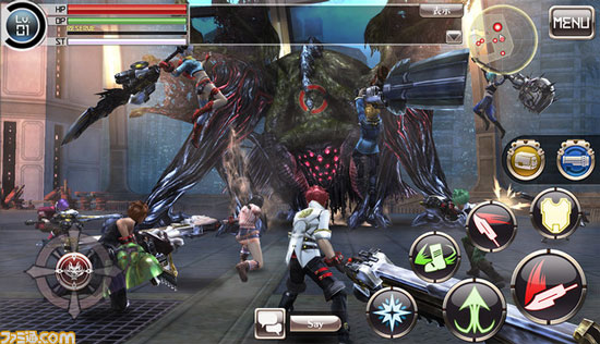 动作游戏《噬神者 ONLINE》曝光 多人即时合作展开狩猎