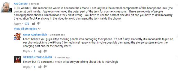 电钻爆菊iPhone7:只为3.5mm耳机接口