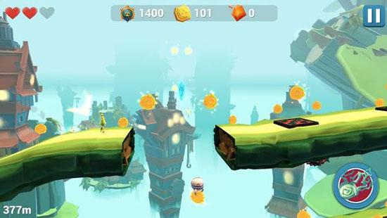 趣味跑酷《Amberborn》曝光 小绿人游走3D大世界