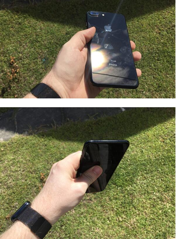 """亮黑色iPhone 7不适合""""裸奔""""    不服你来试试"""