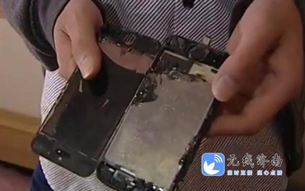 手机自燃爆炸事件再现:iPhone 5S充电突然着火