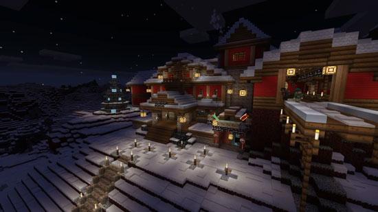 圣诞节不能少了圣诞树 《我的世界》移动版迎圣诞更新