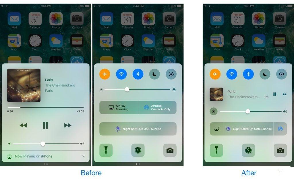 """如何让iOS 10控制中心变成""""单页""""?"""