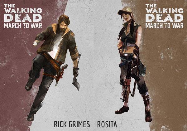 策略游戏《行尸走肉:行军作战》公布五位主角人设海报