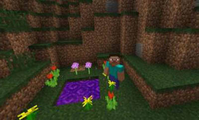 《我的世界:移动版》暮色森林传送门制作方法