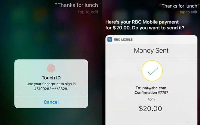 允许用户通过 Siri 语音转账?加拿大皇家银行真给力