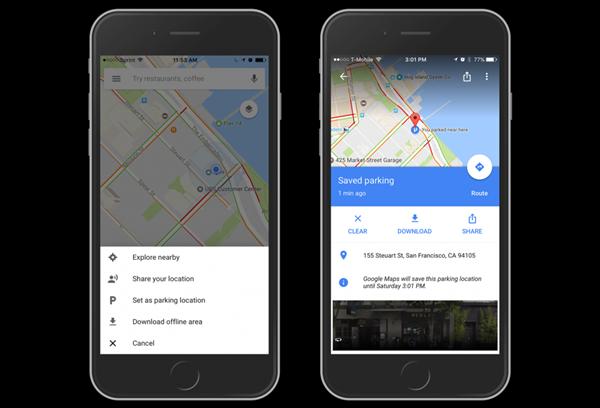 iOS版谷歌地图更新 允许用户保存停车地点
