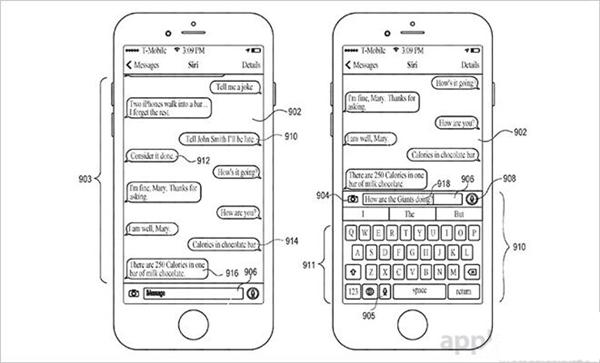苹果新专利:将Siri助手整合到信息环境中