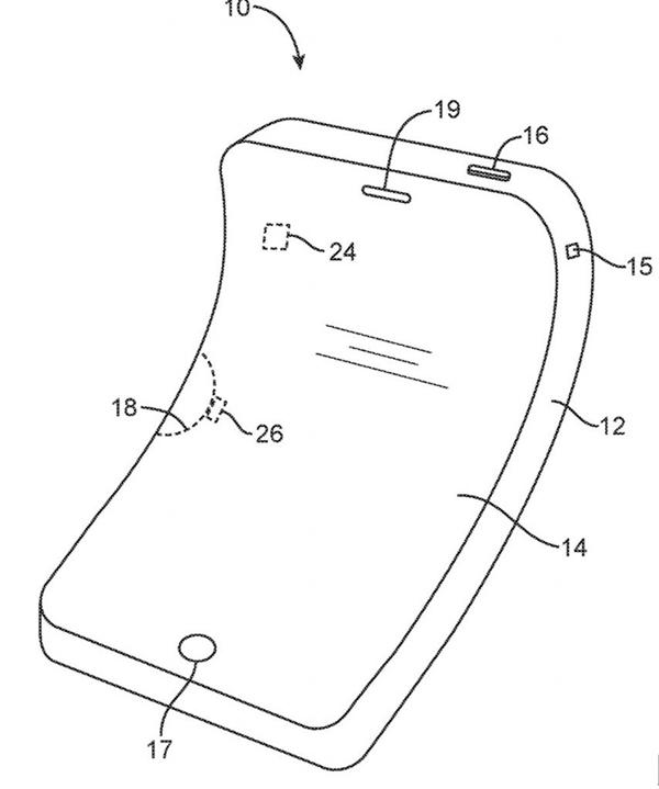 """iPhone真的要""""弯""""啊 又一个柔性设备专利"""