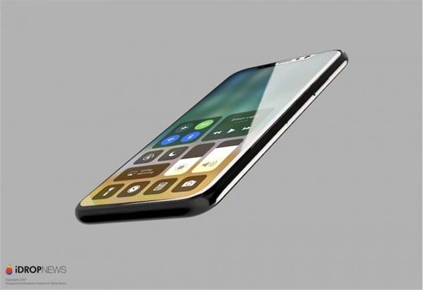 苹果iPhone8运行iOS11渲染图欣赏
