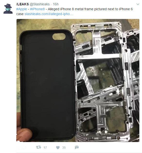 苹果iPhone8量产组件曝光: 即将投入生产