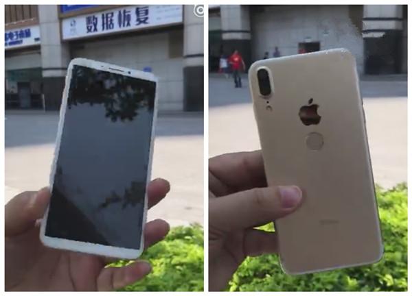 国产山寨苹果iPhone8上手:背面指纹+竖排双摄