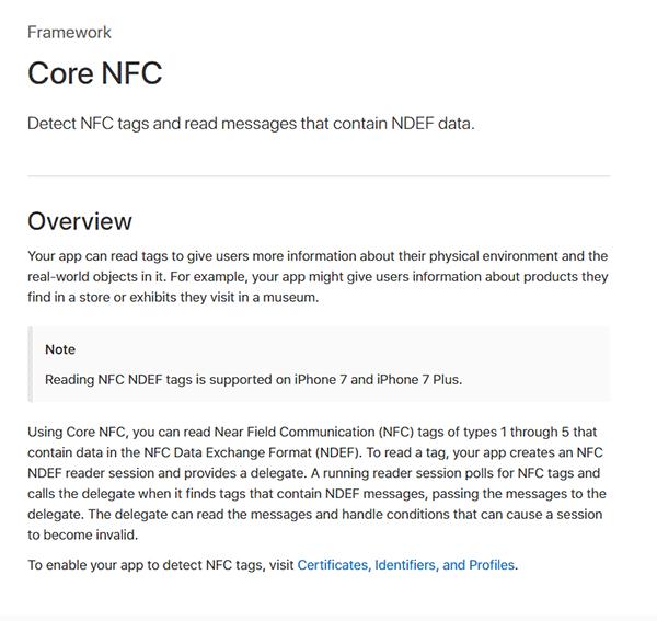 苹果iOS11扩展NFC相关功能,未来iPhone当公交卡可期