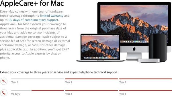 苹果产品 Apple Care+ 服务购买期限缩短