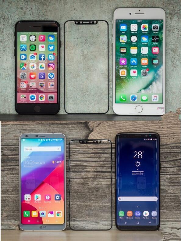 iPhone 8屏幕钢化膜曝光 没物理Home键