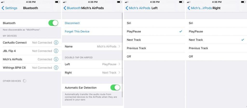 iOS 11教程:自定义AirPods的双触操作
