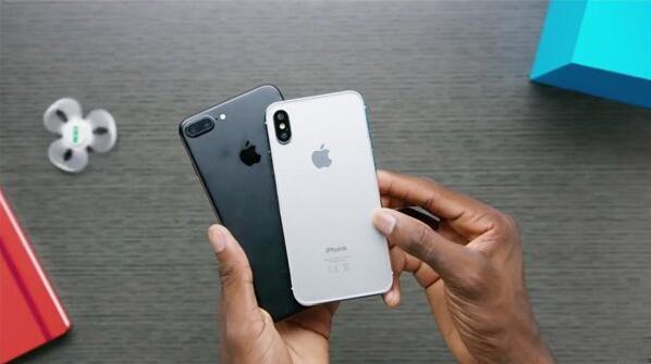 白色苹果iPhone8模型机,喜欢这风格?