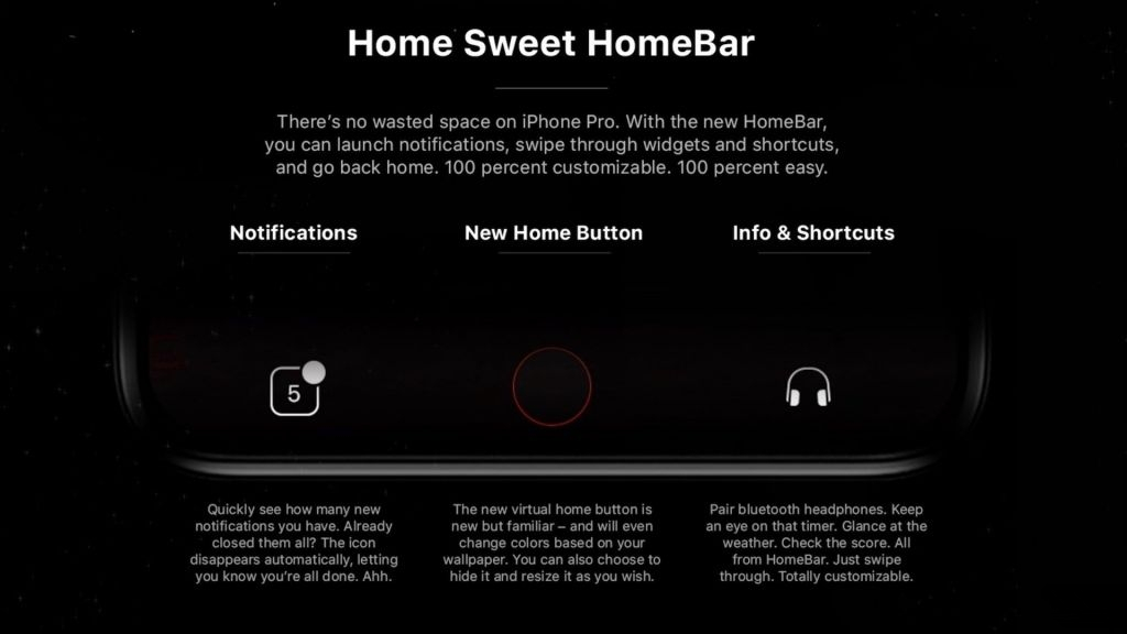 """iPhone 8""概念设计:加入HomeBar创意"