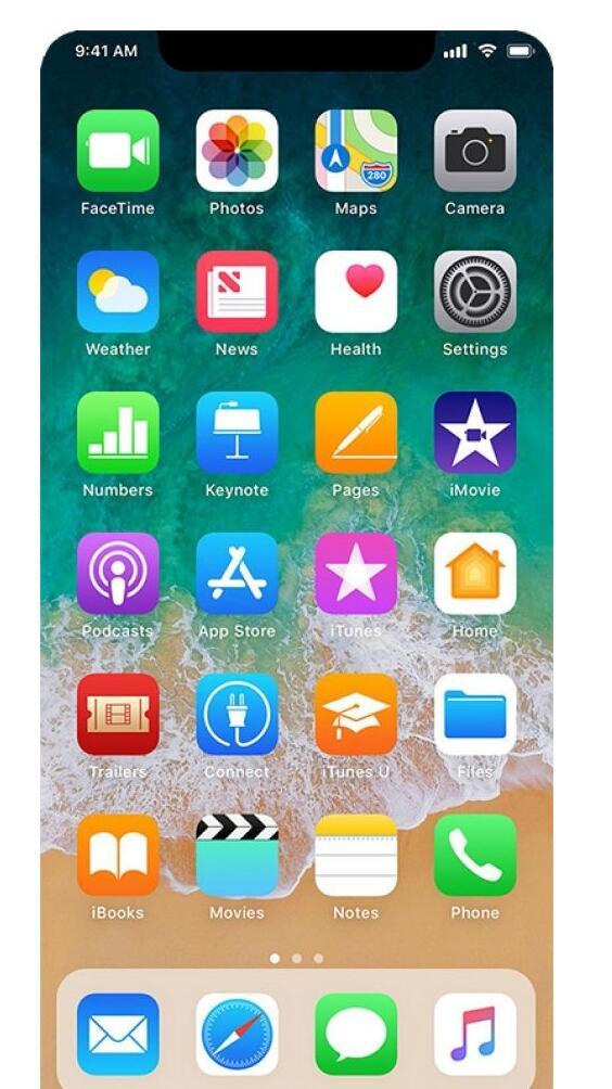 """iPhone 8""的主屏幕界面变成这样好不好?"