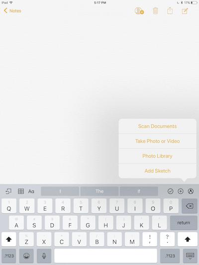 如何在iPhone和iPad的iOS11上使用备忘录的全新功能