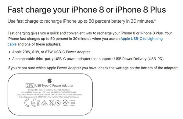 苹果开放第三方充电器支持iPhone 8/X快充