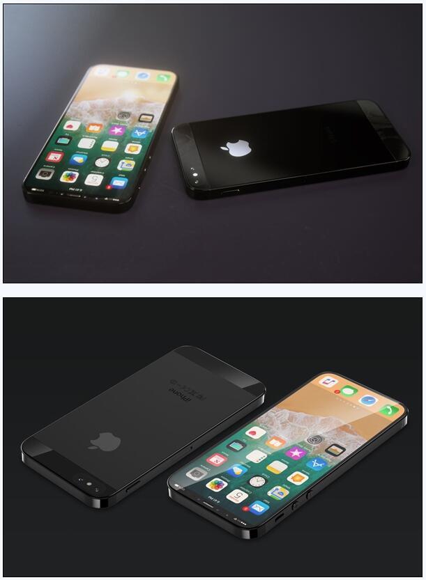 全面屏iPhone SE概念机曝光:帅过iPhone X