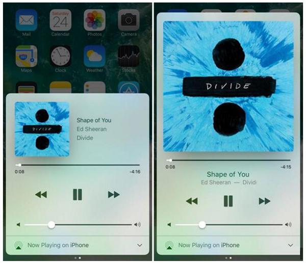 越狱插件Sinatra:可放大iOS控制中心的音乐插图