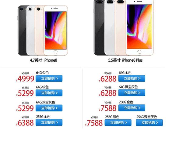 苹果iPhone 8价格新低:跌破5000元