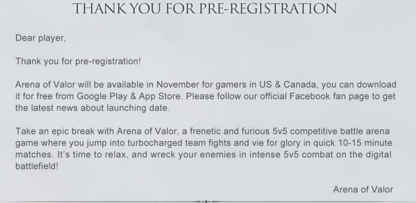 布局全球!腾讯《王者荣耀》海外版正式在北美开启预注册
